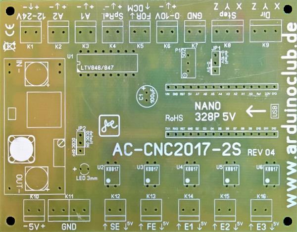 PCB - ESTLCAM CNC Controller AC-CNC2017-2S-REV04