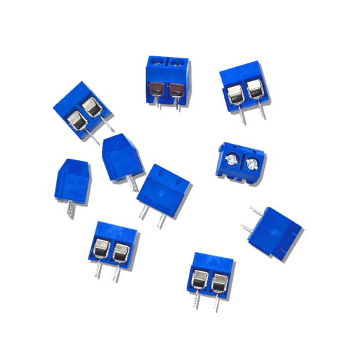Solderable screw terminal - 2 pole, RM 5, blue (10 pieces)