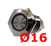 Ø16 metal push-button 4V-48V with LED, various light colours